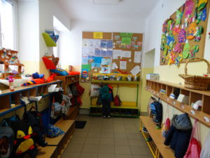 Szatnia dla przedszkolaków